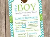 Free Football Baby Shower Invitations Chevron Football Baby Shower Invitation Football Lime Teal