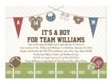"Free Football Baby Shower Invitations Couples Co Ed Football Baby Shower Invitations 5"" X 7"