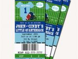 Free Football Baby Shower Invitations Football Baby Shower Printable Ticket Invitations Printable