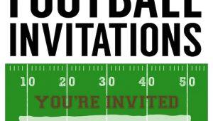 Free Football Party Invitations Football Party Invitation Template Free Printable