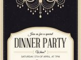 Free formal Dinner Party Invitation Template Classy Chandelier Dinner Party Invitation Template Free