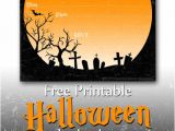 Free Halloween Party Invitation Template Free Printable Party Invitations Spooky Graveyard