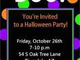 Free Halloween Party Invitation Template Halloween Party Invitation Printable