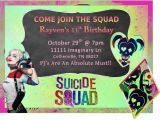 Free Harley Quinn Birthday Invitations 36 Best Images About Suicide Squad On Pinterest