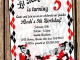 Free Harley Quinn Birthday Invitations Harley Quinn Invitation