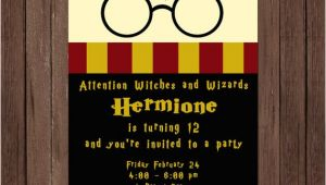 Free Harry Potter Birthday Invitation Template Harry Potter Birthday Invitation Gryffindor Digital File