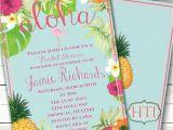 Free Hawaiian themed Bridal Shower Invitations Luau Invitation Aloha Luau Bridal Shower Hawaii Invitation