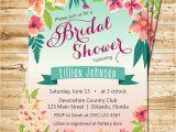 Free Hawaiian themed Bridal Shower Invitations Tropical Bridal Shower Invitation island Flowers Hawaiian