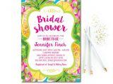Free Hawaiian themed Bridal Shower Invitations Tropical Bridal Shower Invitation Pineapple Bridal