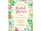 Free Hawaiian themed Bridal Shower Invitations Tropical Chic Bridal Shower Invitation Throw A Fun Summer