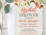 Free Instant Download Bridal Shower Invitations Editable Bridal Shower Invitation Autumn Fall Leaves Pdf