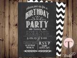 Free Male 21st Birthday Invitations Chalkboard Birthday Invitation Birthday Invitation Elegant