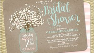 Free Mason Jar Bridal Shower Invitation Templates Printable Bridal Shower Invitations