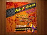 Free Nerf Birthday Invitation Template Free Nerf Gun Party Invitations Cheap