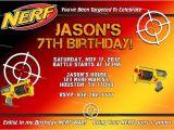 Free Nerf Birthday Invitation Template Items Similar to Personalized Nerf Boy Birthday Party