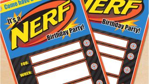 Free Nerf Birthday Party Invitation Template Free Printable Nerf Birthday Invitation