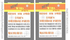 Free Nerf Gun Party Invitations Printable Nerf Party Invitations Template Budget Template Free