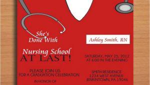 Free Nursing School Graduation Invitation Templates Free Printable Graduation Party Invitation Template Nurse