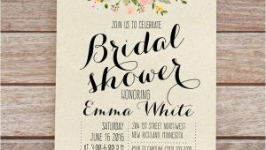 Free Online Bridal Shower Invitations Templates Wedding Shower Invitation Templates