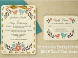 Free Online Bridal Shower Invitations with Rsvp Diy Tutorial Free Printable Invitation and Rsvp Card