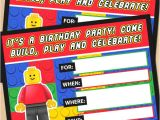 Free Party Invitation Templates Lego Free Printable Lego Building Blocks Birthday Invitation