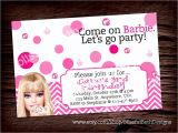 Free Personalised Birthday Invitations Personalized Barbie Invitation Printable by