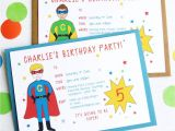 Free Personalised Birthday Invitations Superhero Personalised Birthday Party Invitations by