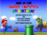 Free Personalized Super Mario Birthday Invitations Super Mario & Luigi Birthday Party Invitations