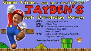 Free Personalized Super Mario Birthday Invitations Super Mario Birthday Invitations – Bagvania Free Printable