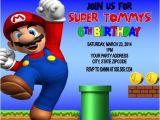 Free Personalized Super Mario Birthday Invitations Super Mario Birthday Party Invitations Personalized Custom