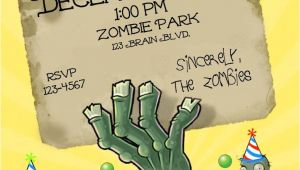 Free Plants Vs Zombies Birthday Invitation Template Zombie Party Invitation Templates