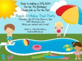 Free Pool Party Invitation Ideas Free Printable Pool Party Invites for Kids