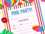 Free Pool Party Invitations Free Printable Summer Pool Party Invitation