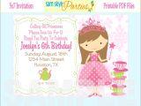 Free Princess Birthday Invitation Template Princess Birthday Invitations
