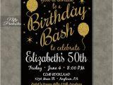 Free Printable 21st Birthday Invitations Printable Birthday Invitations Black Gold Glitter 20 21 30th