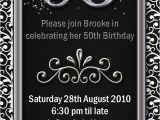 Free Printable 50th Birthday Invitations Impressive 50th Birthday Party Invitation Template