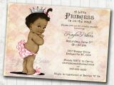 Free Printable African American Baby Shower Invitations African American Baby Shower Invitation for Girl Princess