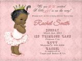 Free Printable African American Baby Shower Invitations African American Girl Baby Shower by Cuddlebuginvitations