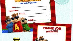 Free Printable Alvin and the Chipmunks Birthday Invitations Free Printable Alvin the Chipmunks Birthday Invitation