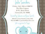 Free Printable Baby Shower Invitation Templates Printable Baby Shower Invitation Elephant Boy Light Blue
