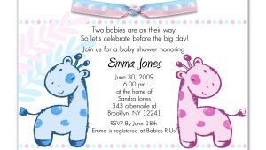 Free Printable Baby Shower Invitations for Twins Printable Baby Shower Invitations Twins