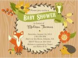 Free Printable Baby Shower Invitations Woodland Animals Party Pop S Vendor Listing