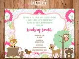 Free Printable Baby Shower Invitations Woodland Animals Printable Woodland Girl Baby Shower Invitation forest