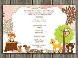 Free Printable Baby Shower Invitations Woodland Animals Printable Woodland Girl Baby Shower Invitation
