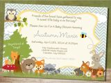 Free Printable Baby Shower Invitations Woodland Animals Unique Ideas for Woodland Creatures Baby Shower