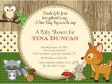 Free Printable Baby Shower Invitations Woodland Animals Woodland Animals forest Baby Shower Invitation Printable
