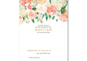 Free Printable Baptism Invitations Templates Free Floral Baptism Invitation Template