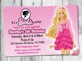 Free Printable Barbie Birthday Party Invitations Barbie Birthday Invitation Printable Doll by Partyprintouts