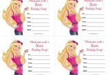 Free Printable Barbie Birthday Party Invitations Barbie Birthday Invitations Free Printable