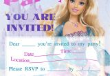 Free Printable Barbie Birthday Party Invitations Barbie Birthday Invitations Template